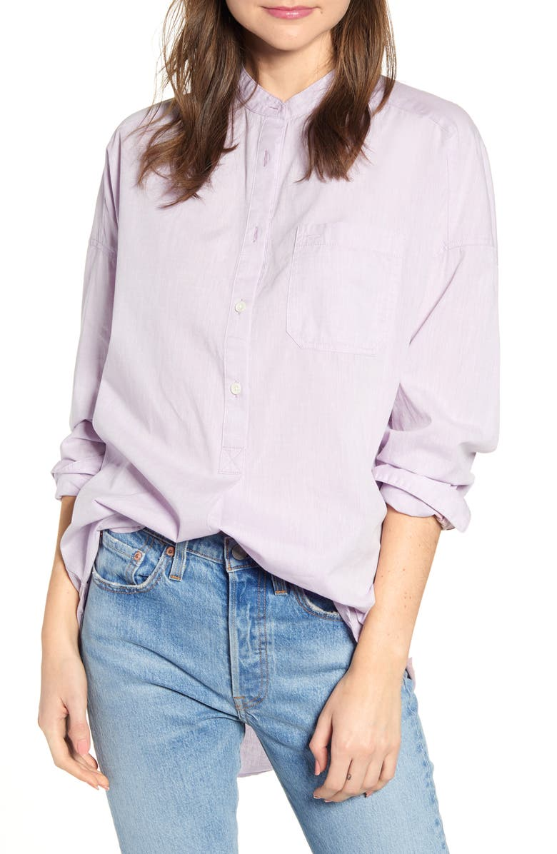 ALEX MILL Shore Shirttail Tunic, Main, color, LILAC