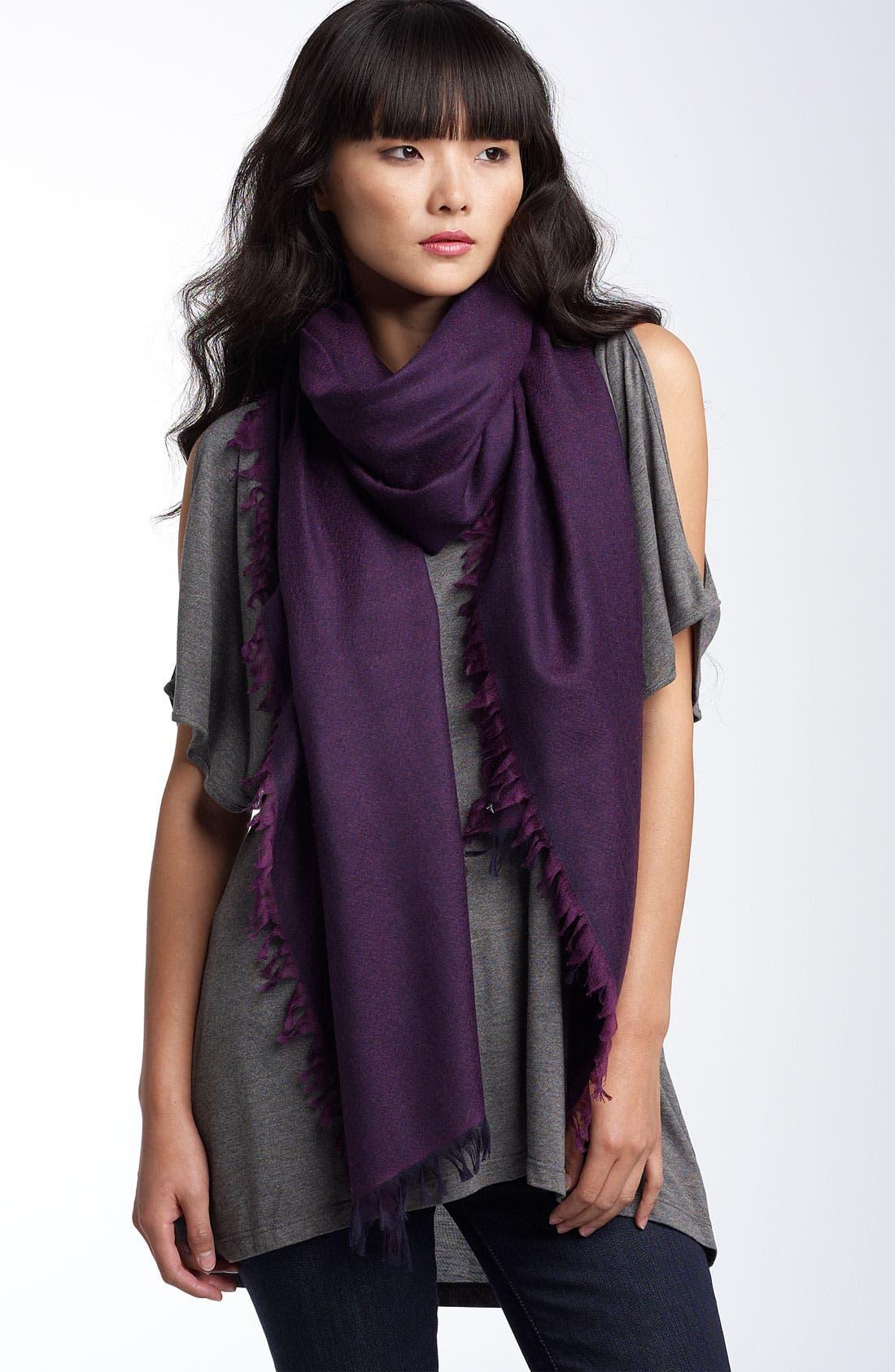 ,                             'Eyelash' Colorblock Cashmere Wrap,                             Main thumbnail 75, color,                             580