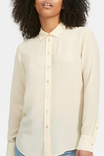 Image of EVERLANE The Clean Silk Relaxed Shirt