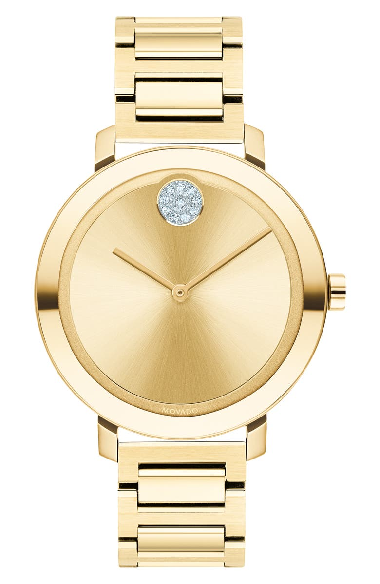 MOVADO Bold Bracelet Watch, 34mm, Main, color, GOLD
