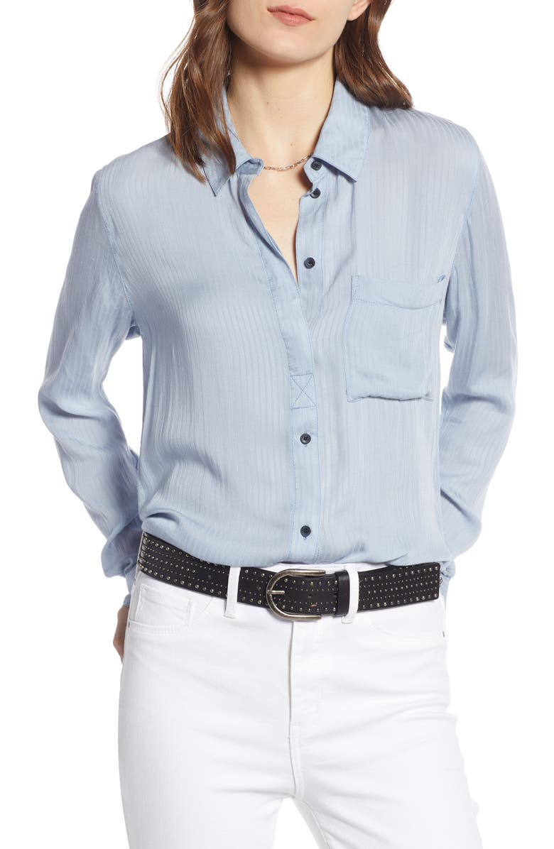 TREASURE & BOND Dobby Classic Shirt, Main, color, BLUE FOG