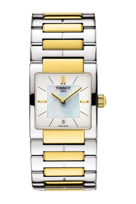 Image of Tissot Women's T02 Mother of Pearl Bracelet Watch, 31.6mm