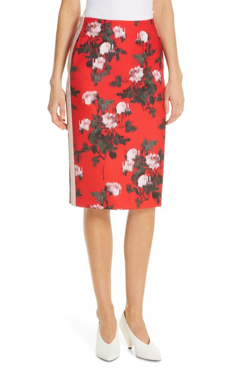 HUGO Rianas Floral Skirt, Main, color, 600