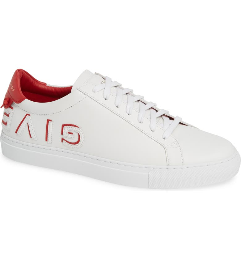 GIVENCHY Urban Street Logo Sneaker, Main, color, WHITE/ RED