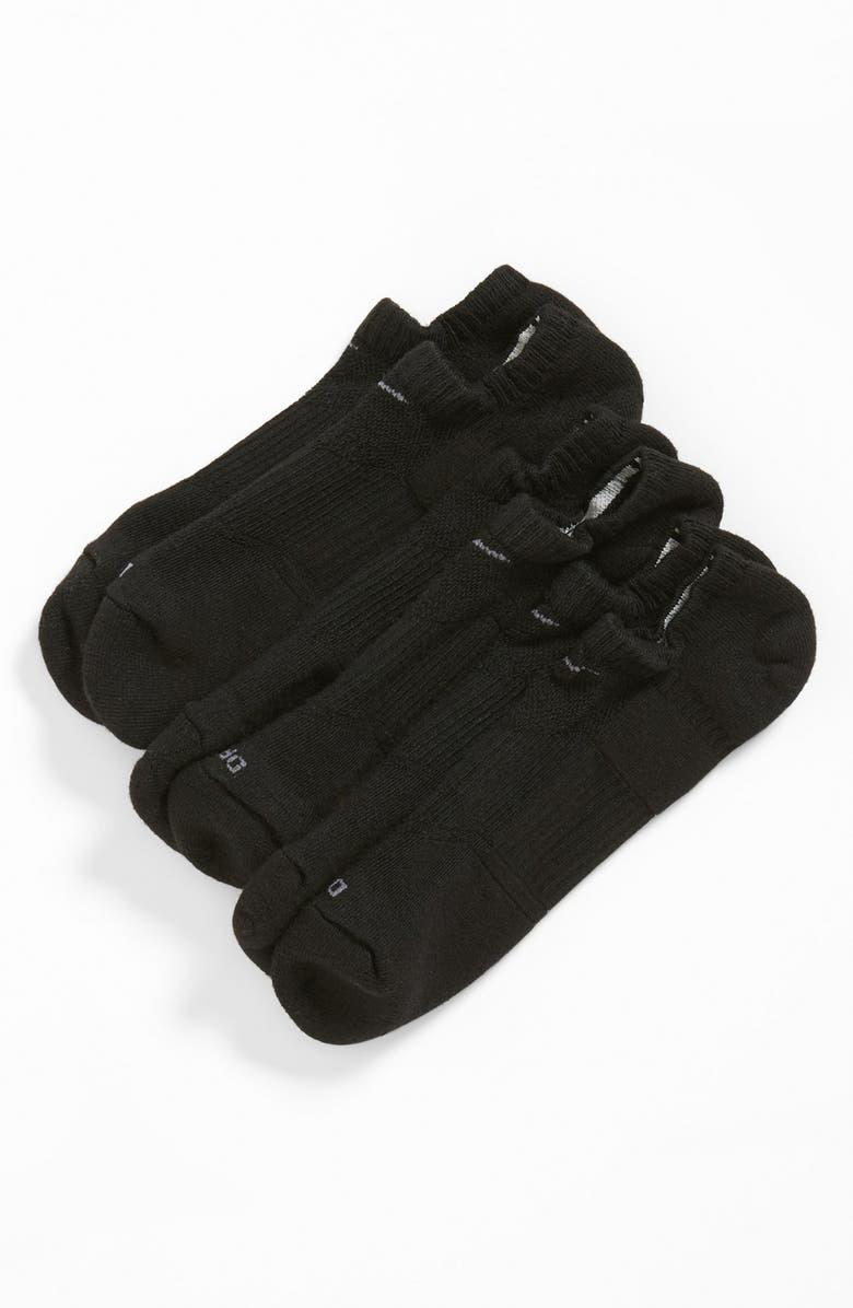 NIKE Dri-FIT 3-Pack Cushioned No-Show Socks, Main, color, 001