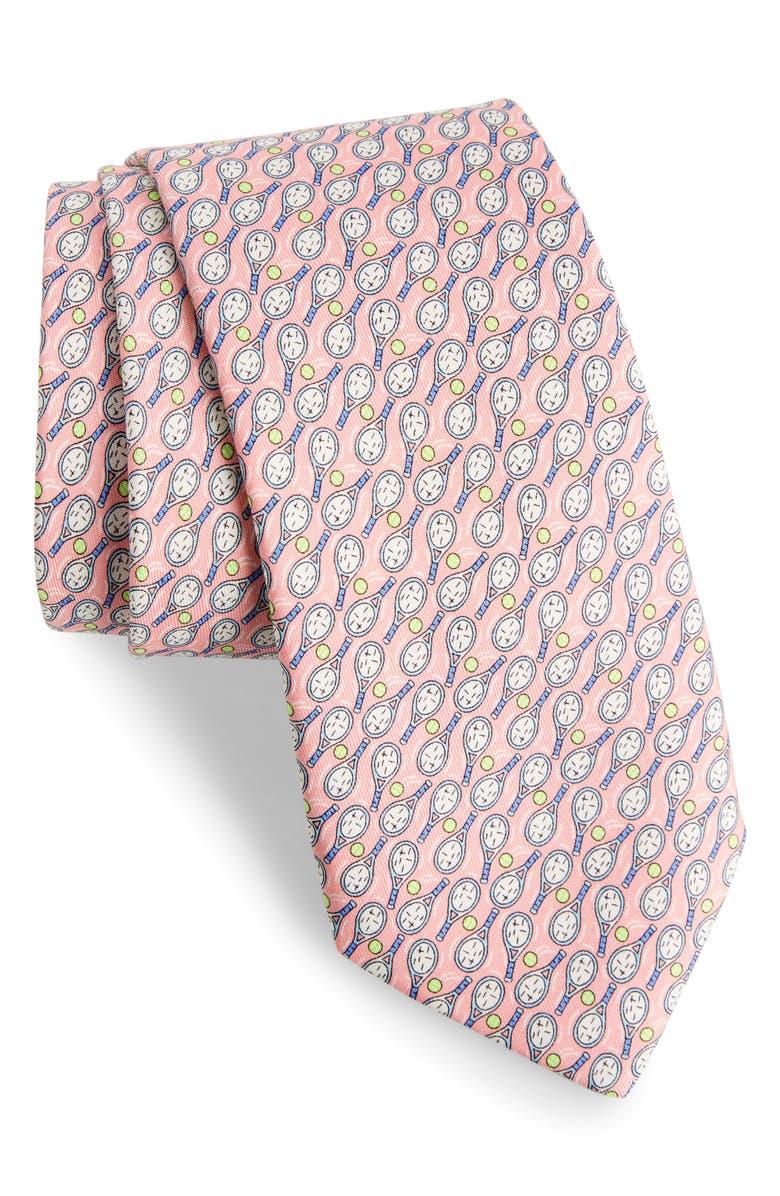 VINEYARD VINES Tennis Racket Print Silk Tie, Main, color, 680