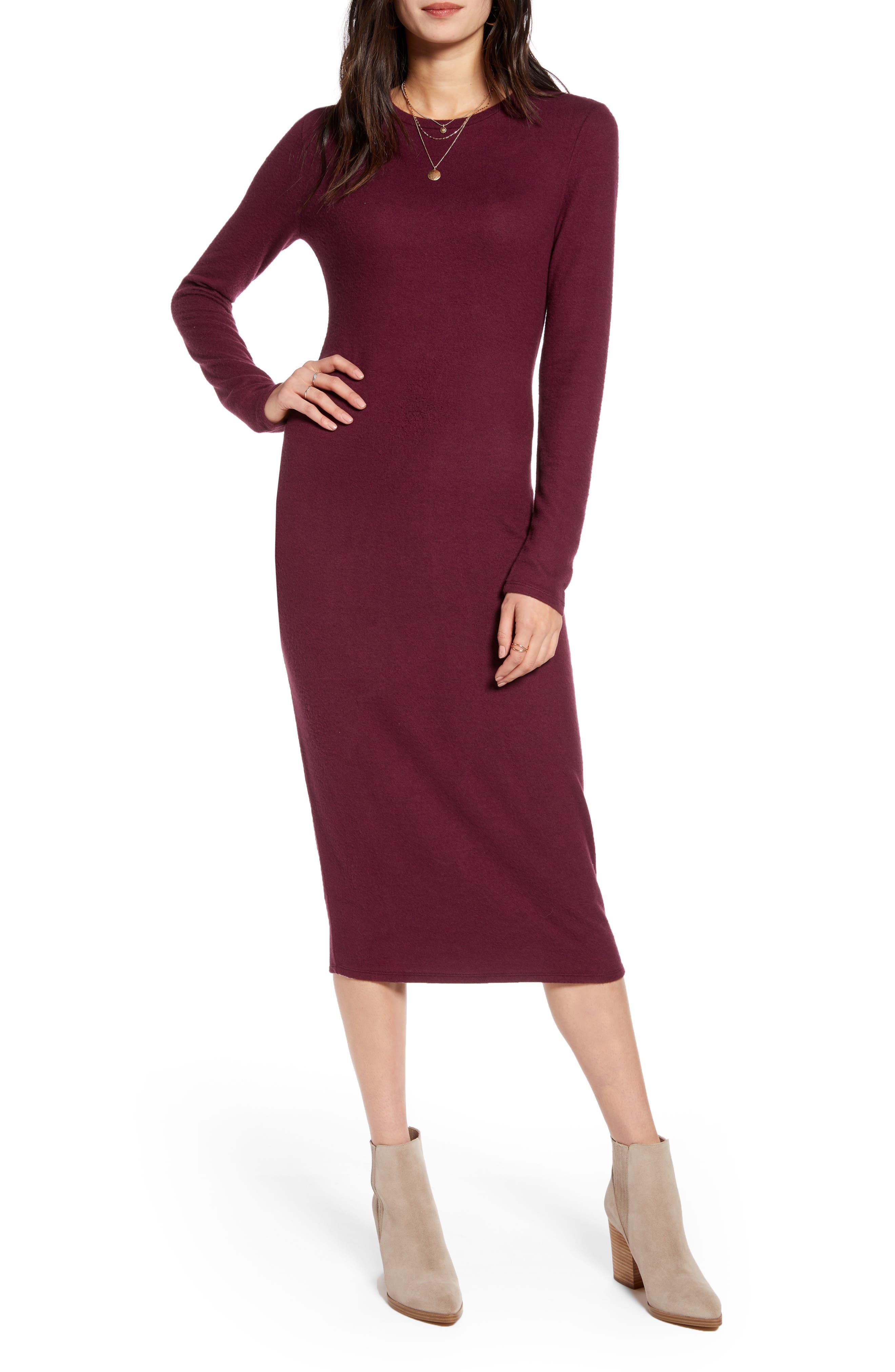 Treasure & Bond Cozy Long Sleeve Sweater Dress
