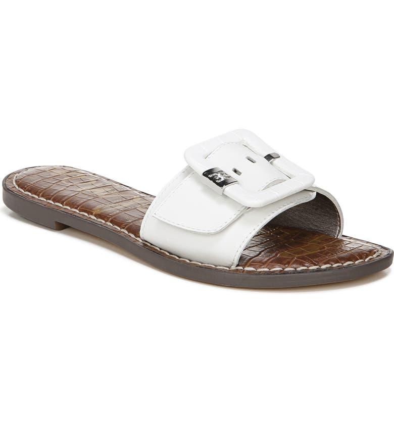 SAM EDELMAN Granada Slide Sandal, Main, color, BRIGHT WHITE LEATHER