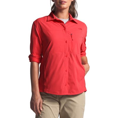 The North Face Outdoor Trail Long Sleeve Shirt, Red