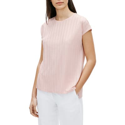 Eileen Fisher Ribbed Top, Pink