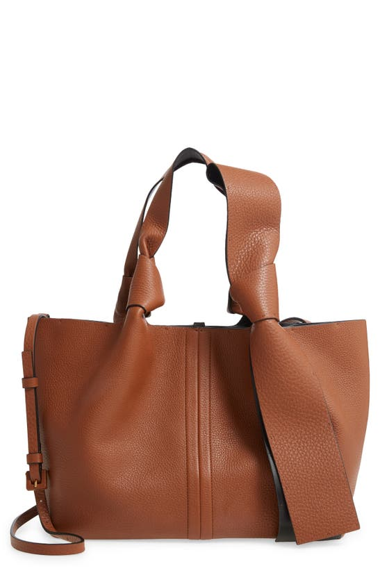 VALENTINO Leathers SMALL ATELIER BOW LEATHER TOTE