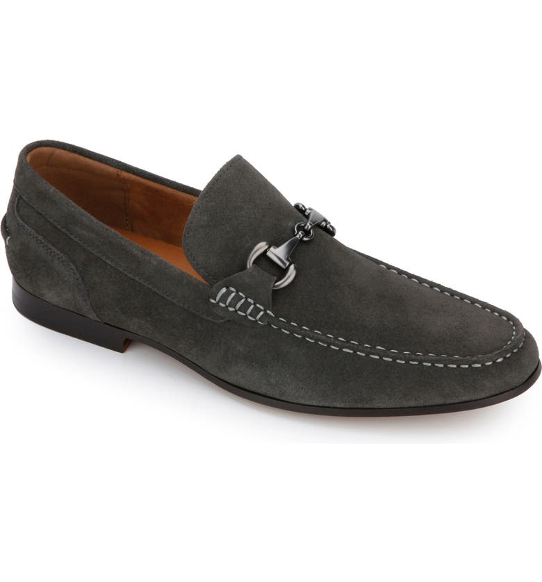 REACTION KENNETH COLE Crespo Loafer, Main, color, DARK GREY SUEDE