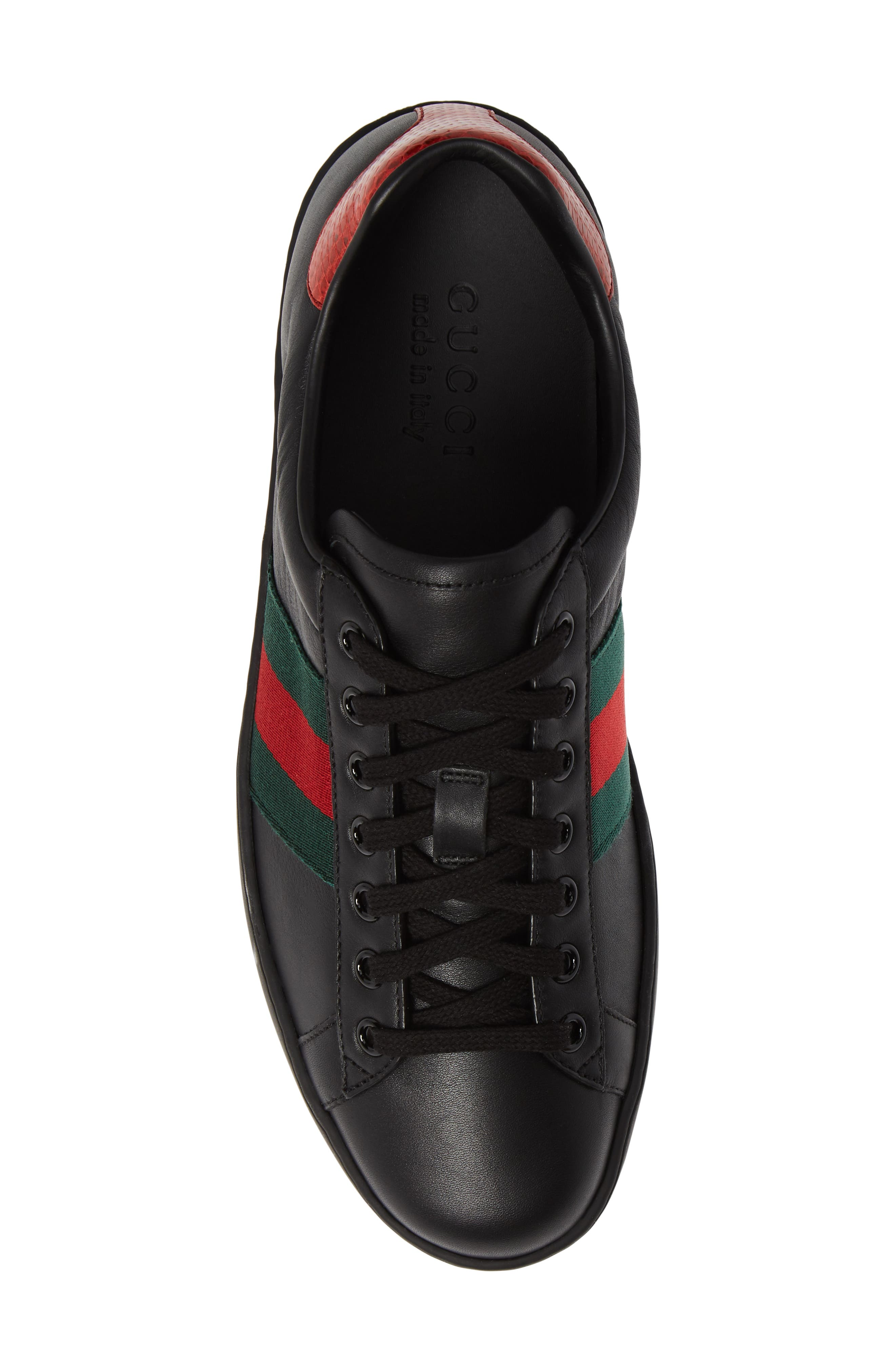 ,                             New Ace Clean Sneaker,                             Alternate thumbnail 5, color,                             BLACK/ RED
