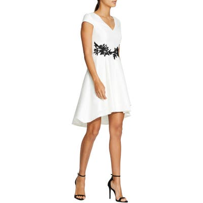 Halston Heritage High/low Cocktail Dress, White