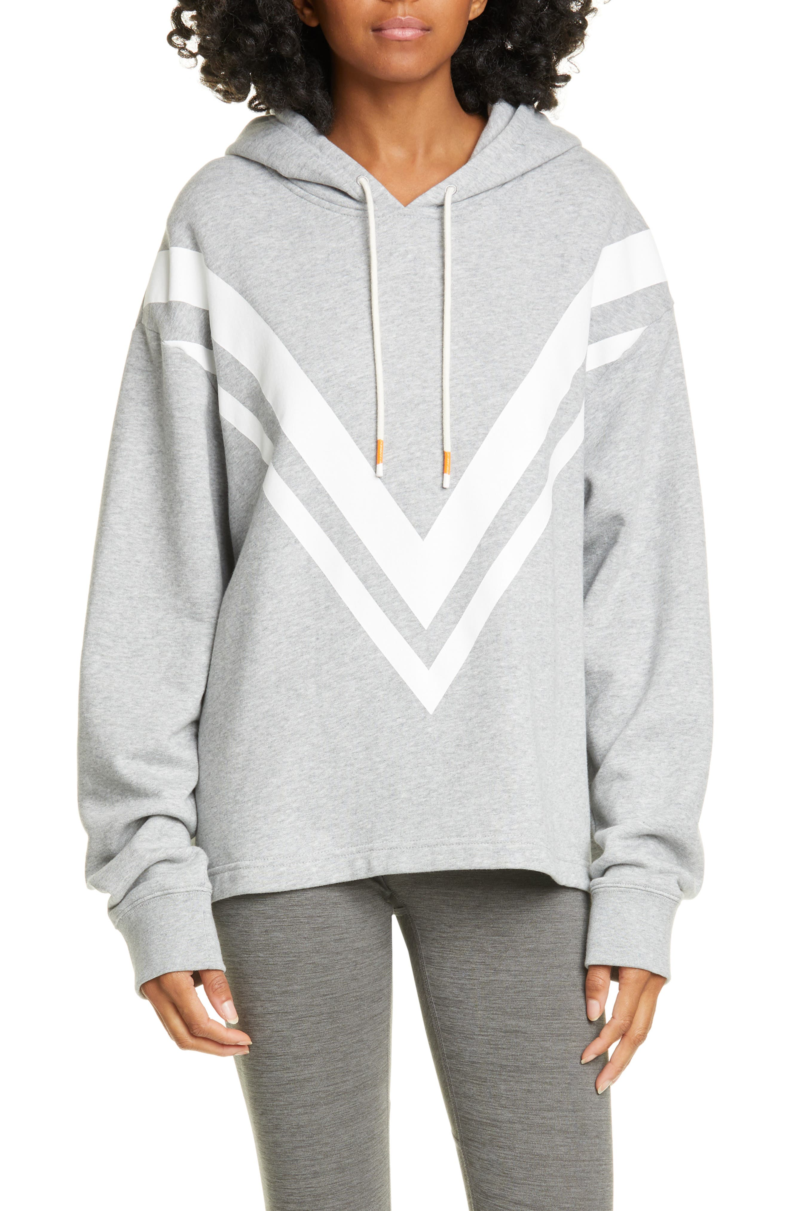 Tory Sport Tops Chevron French Terry Hoodie