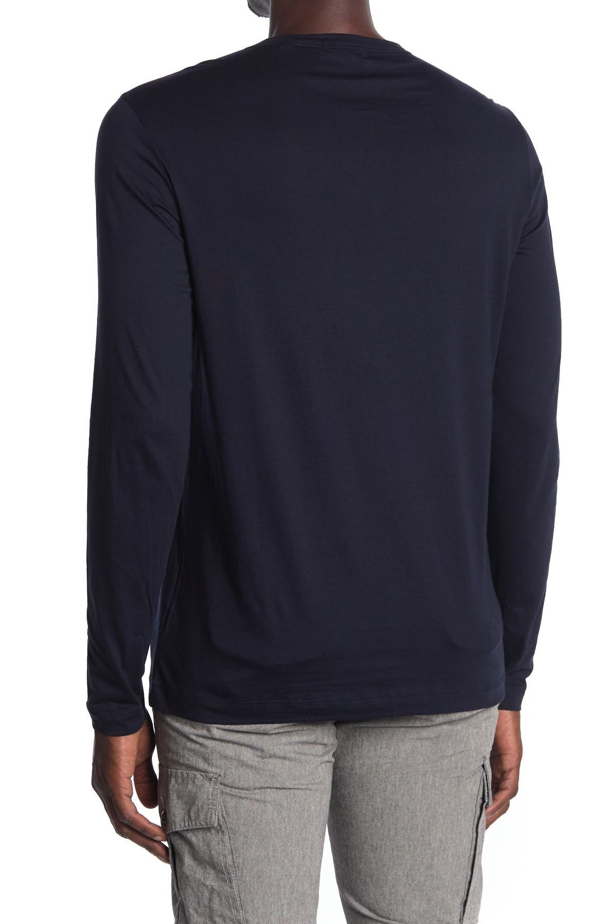 Theory Gaskell Henley Long Sleeve Shirt