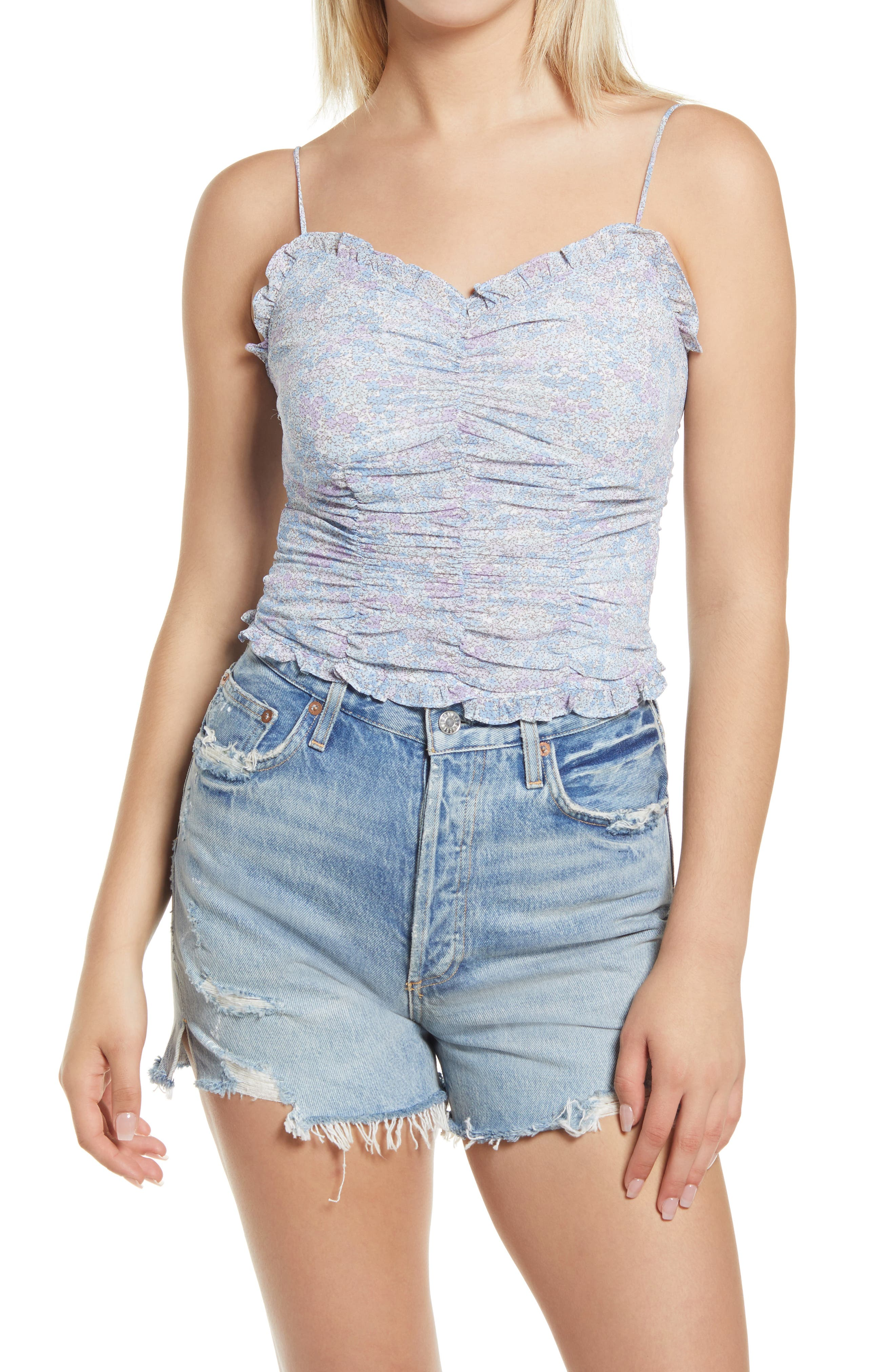 Ruched Floral Camisole