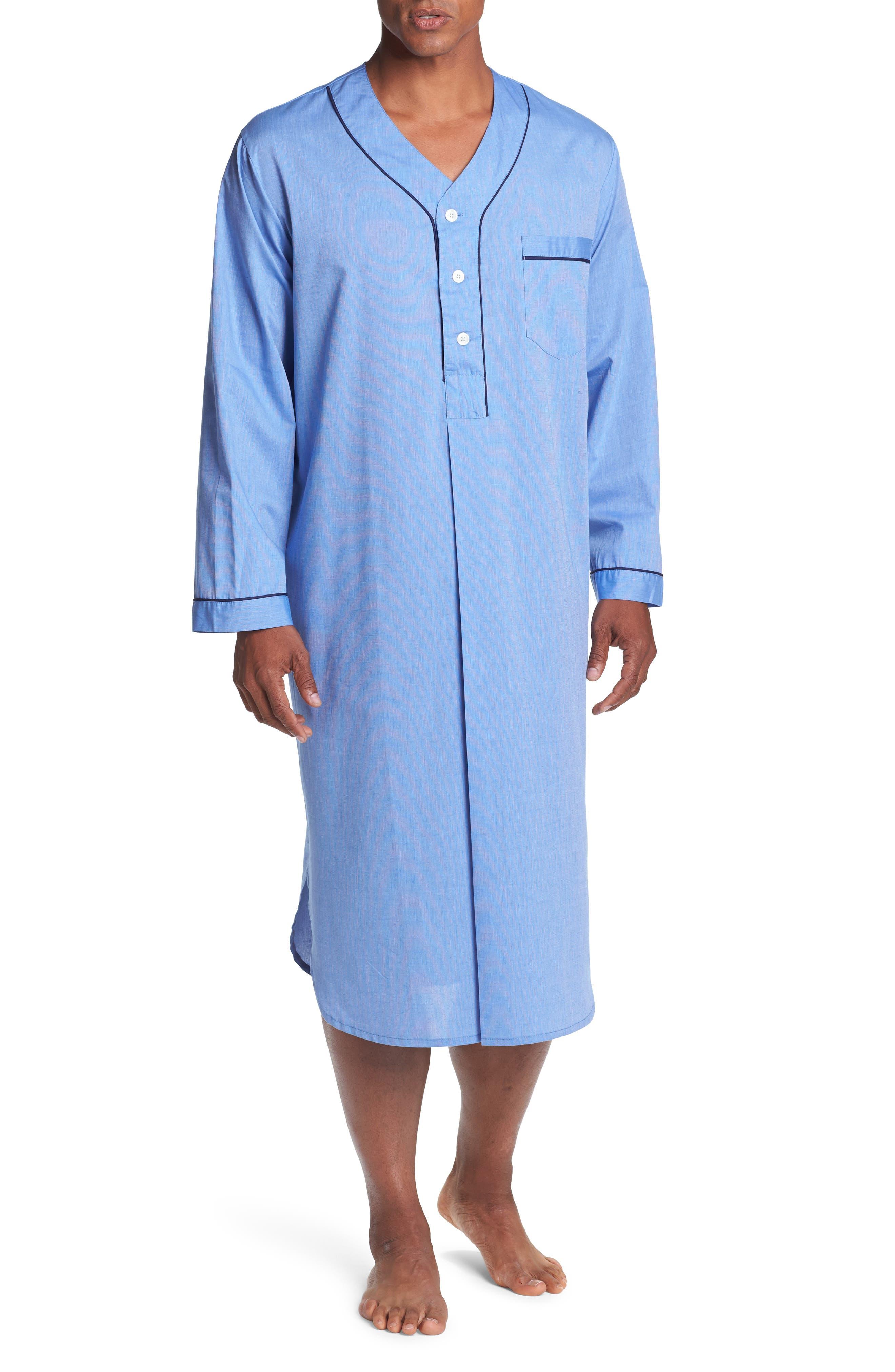 1930s Men's Fashion Guide- What Did Men Wear? Mens Majestic International Cotton Nightshirt $60.00 AT vintagedancer.com