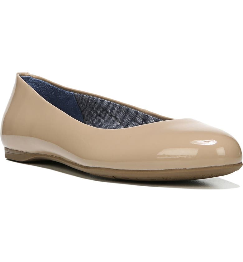 DR. SCHOLL'S Giorgie Flat, Main, color, SAND FAUX LEATHER