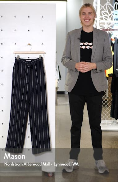 Multistripe Tie Waist Wide Leg Pants, sales video thumbnail