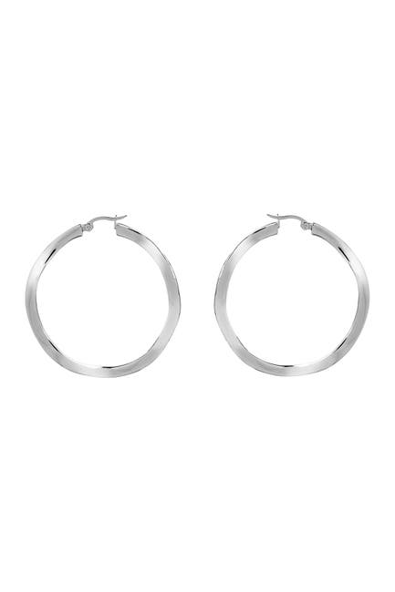 Image of Rivka Friedman Polished Hoop Earrings