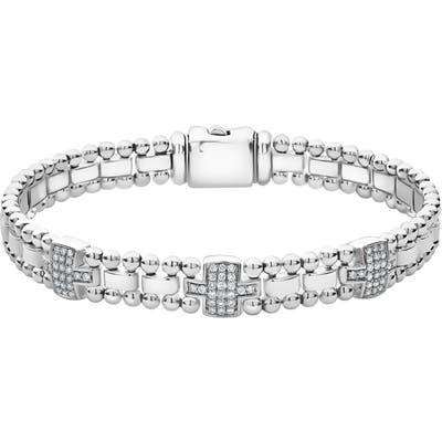 Lagos Caviar Spark Diamond Station Bracelet