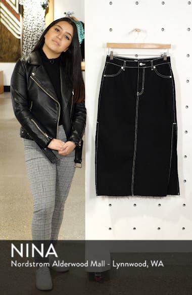 Split Side Denim Midi Skirt, sales video thumbnail