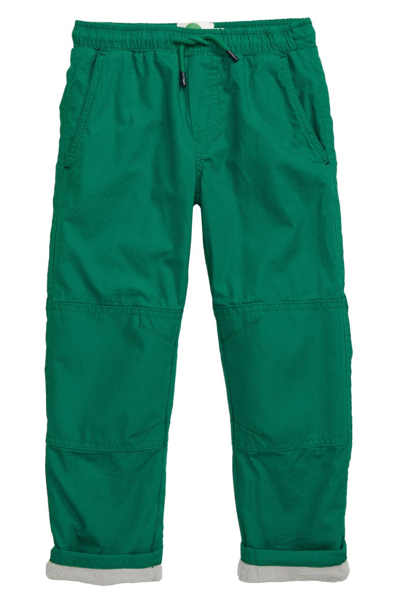 MINI BODEN Fleece Lined Pull-On Pants, Main, color, HIKE GREEN