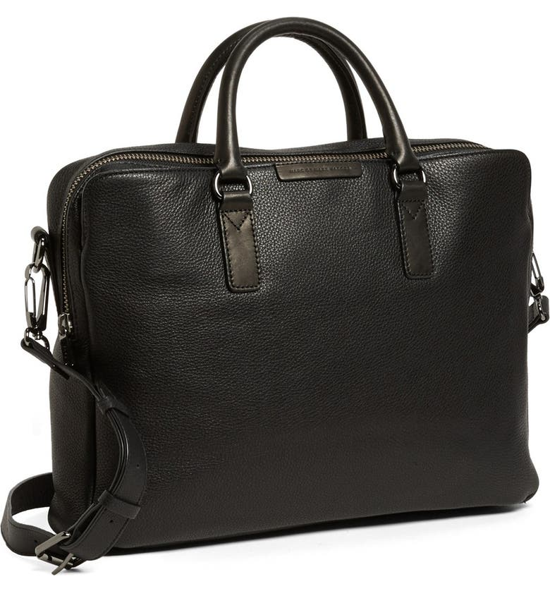 MARC BY MARC JACOBS 'Classic' Leather Briefcase, Main, color, 001