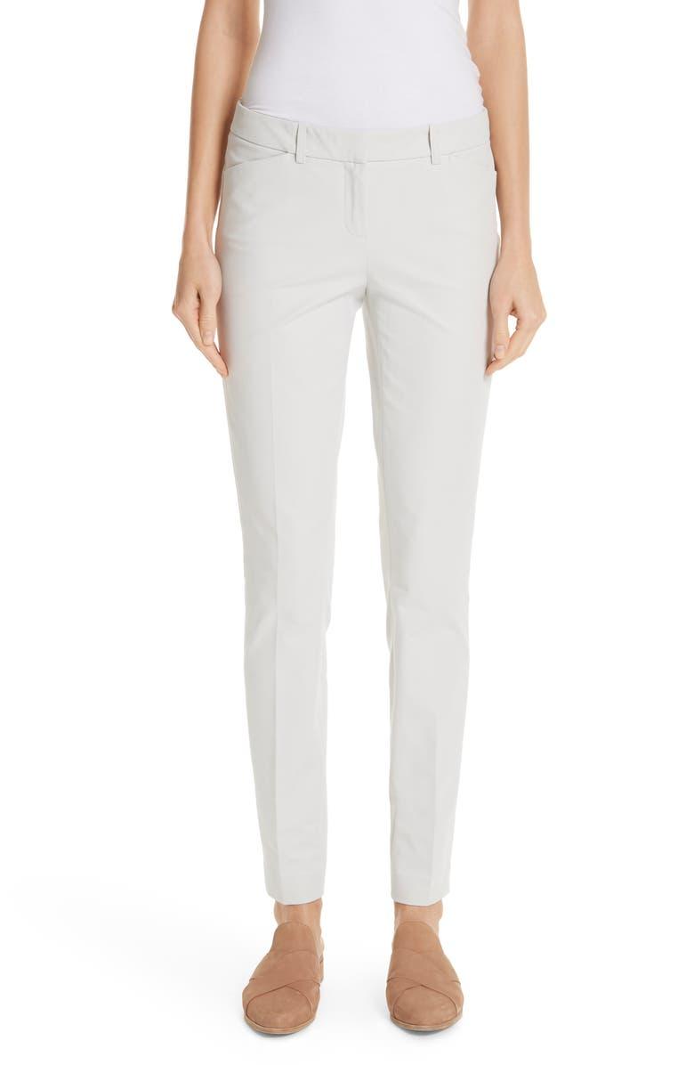 LAFAYETTE 148 NEW YORK Manhattan Skinny Pants, Main, color, STUCCO