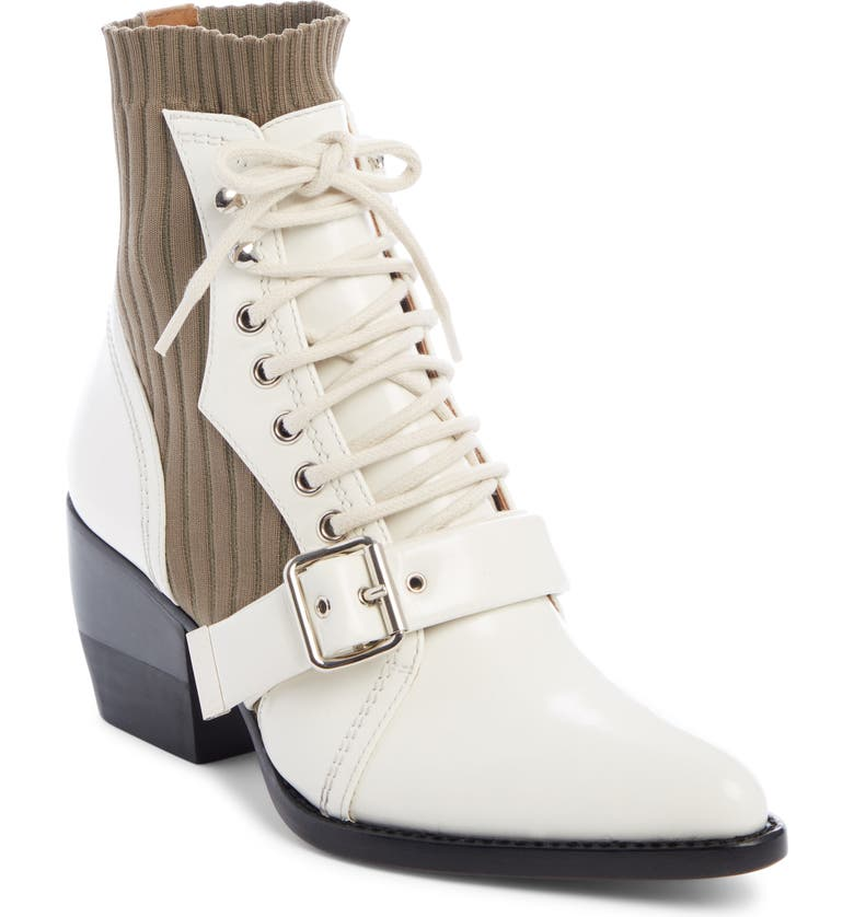 CHLOÉ Rylee Bootie, Main, color, WHITE