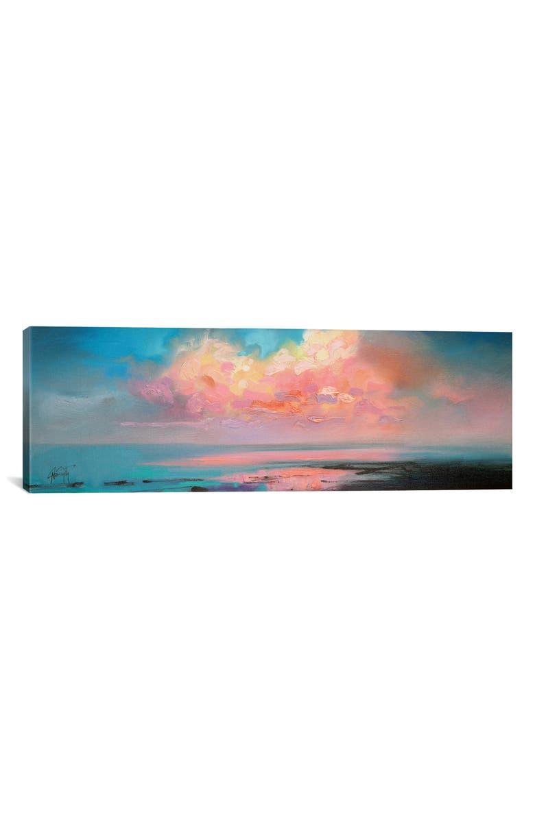 ICANVAS Atlantic Cumulus Giclée Print Canvas Art, Main, color, BLUE/ PINK/ BLACK/ YELLOW