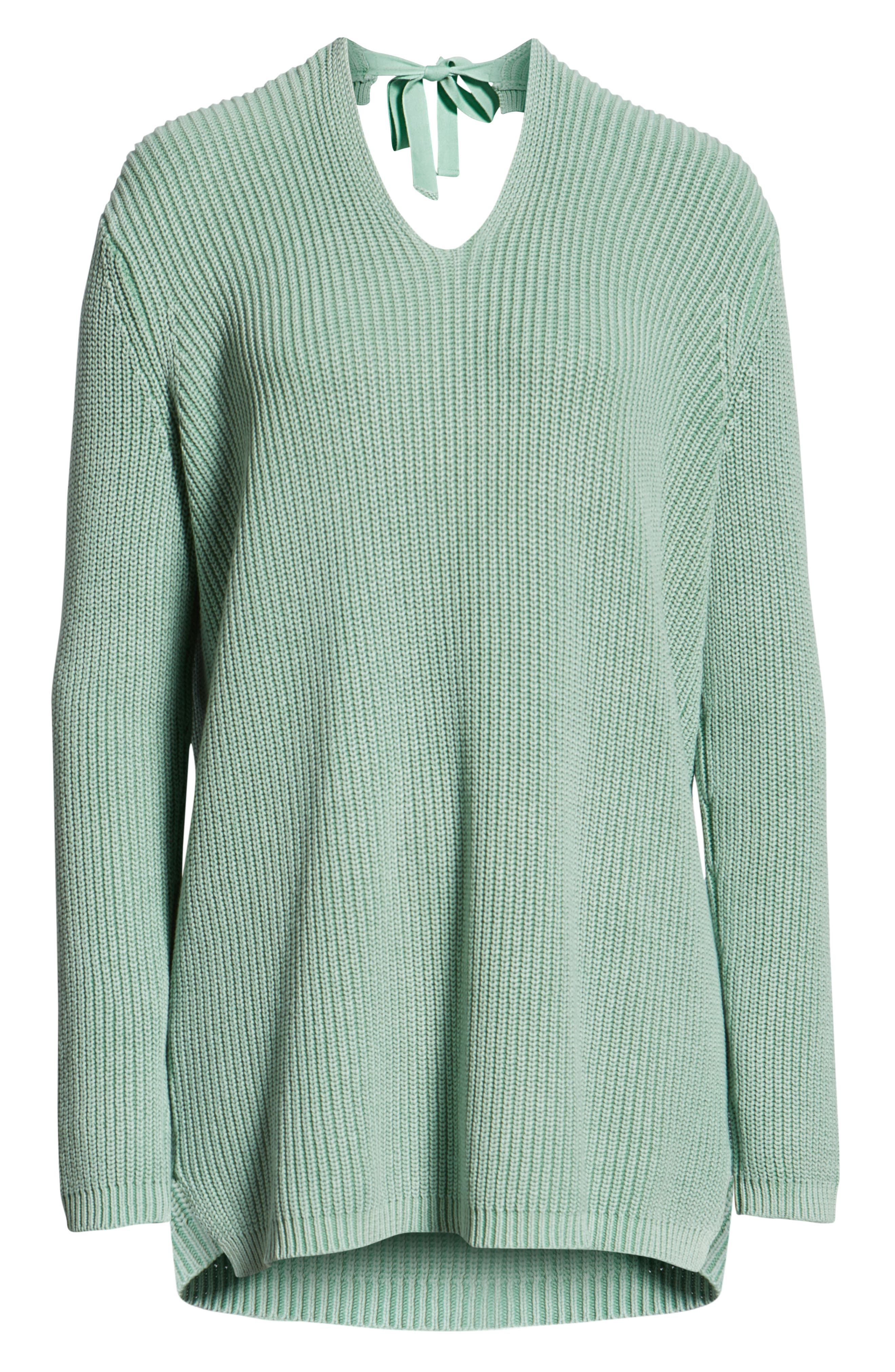 ,                             Tie Back Tunic Sweater,                             Alternate thumbnail 18, color,                             330