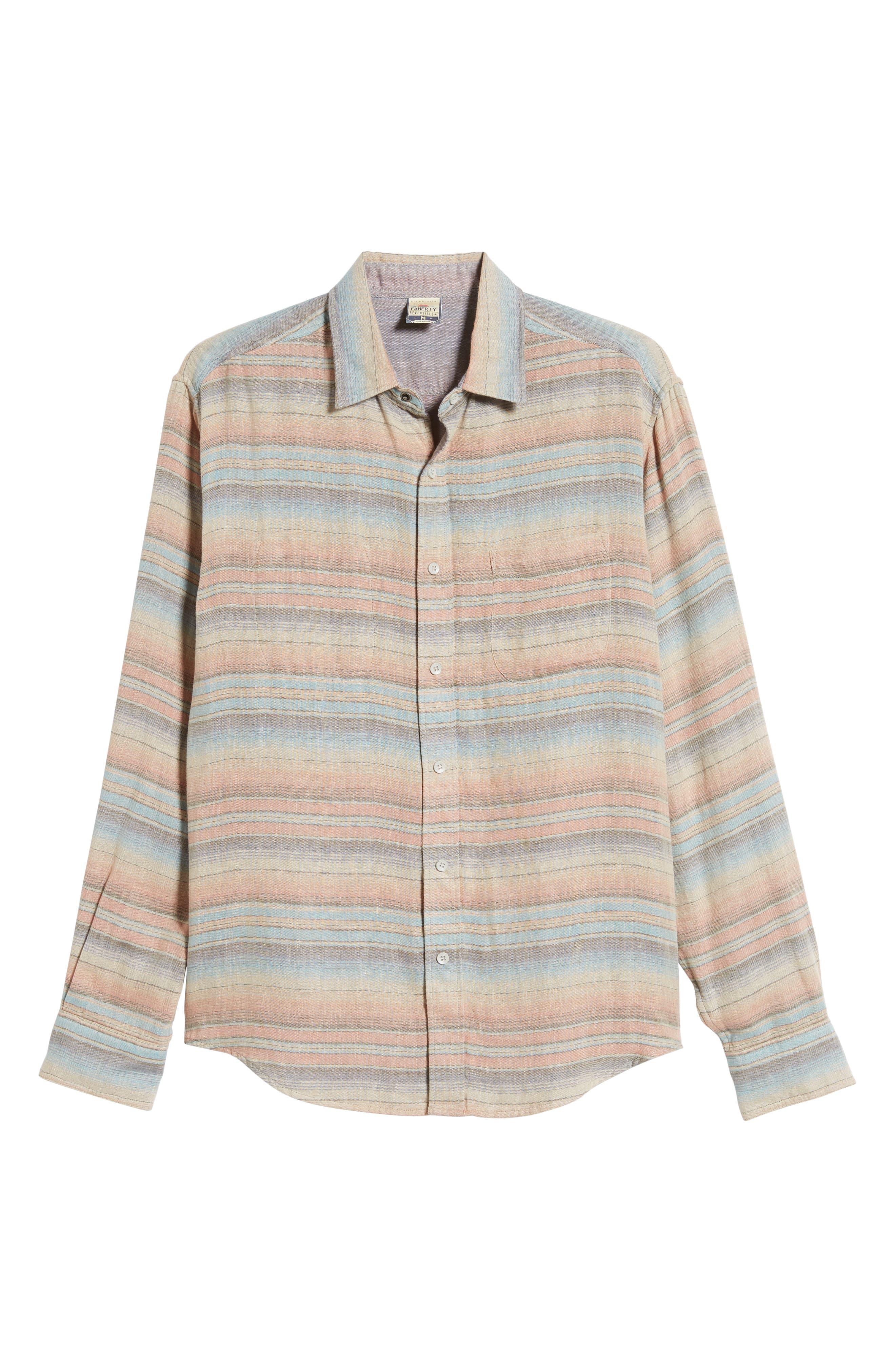 ,                             Belmar Regular Fit Reversible Shirt,                             Alternate thumbnail 6, color,                             EVENING PLAYA