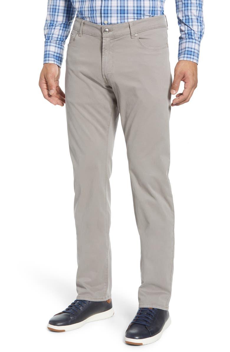 PETER MILLAR Wayfare Five-Pocket Knit Trousers, Main, color, NICKEL