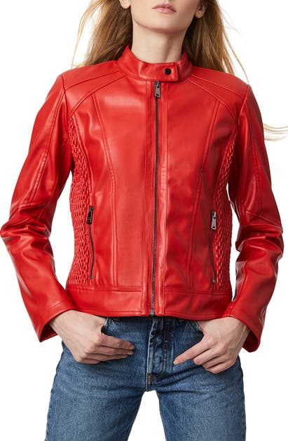 Bernardo FAUX LEATHER SCUBA JACKET