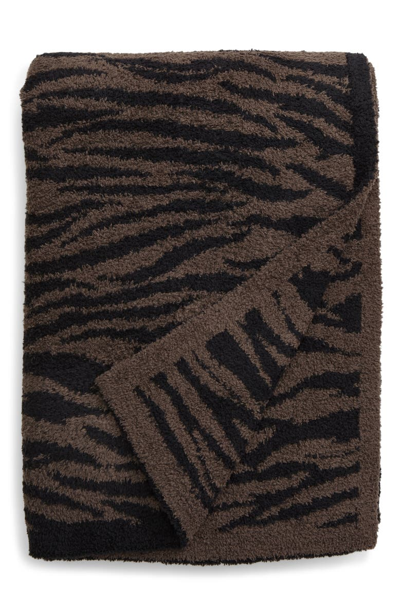 BAREFOOT DREAMS<SUP>®</SUP> CozyChic<sup>™</sup> Safari Blanket, Main, color, COCOA/ BLACK