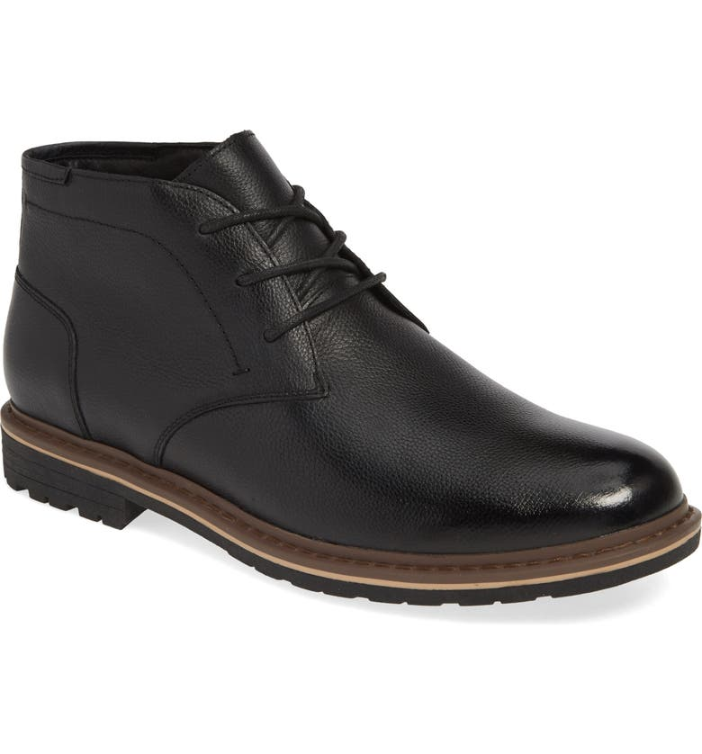 BLONDO Max Chukka Waterproof Boot, Main, color, BLACK LEATHER