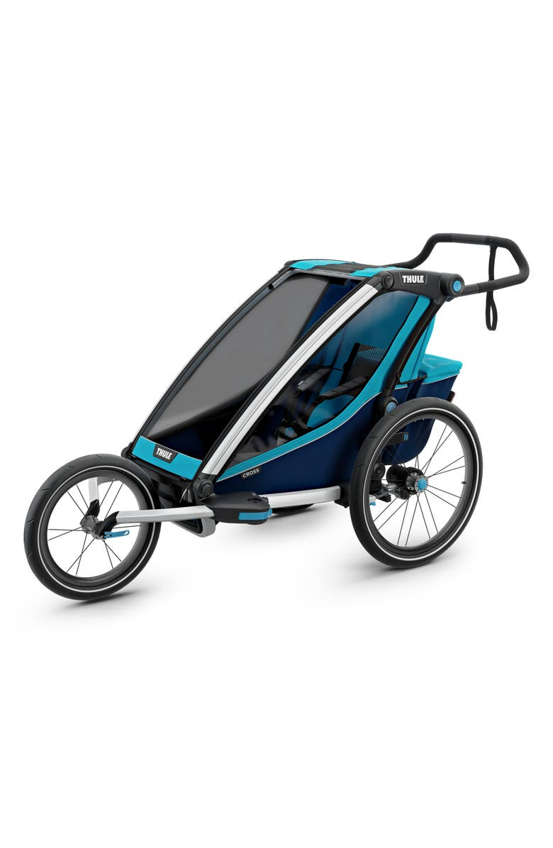 THULE 2019 Chariot Cross Multisport Cycle Trailer/Stroller, Main, color, BLUE