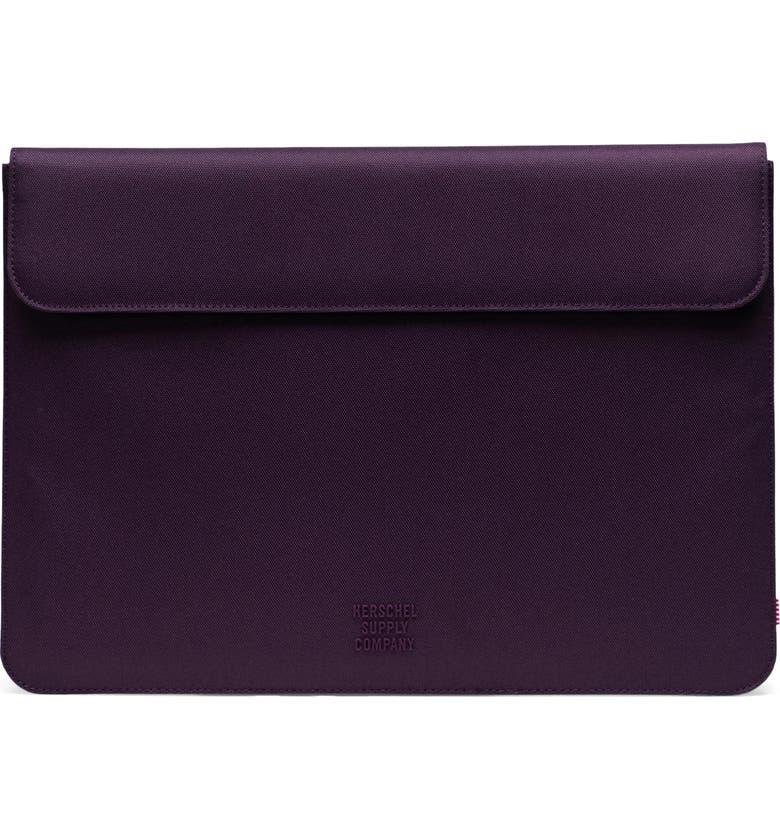 HERSCHEL SUPPLY CO. Spokane 15-Inch MacBook Pro Canvas Sleeve, Main, color, BLACKBERRY WINE
