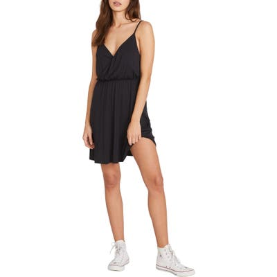 Volcom Not My Luv Cami Dress, Black