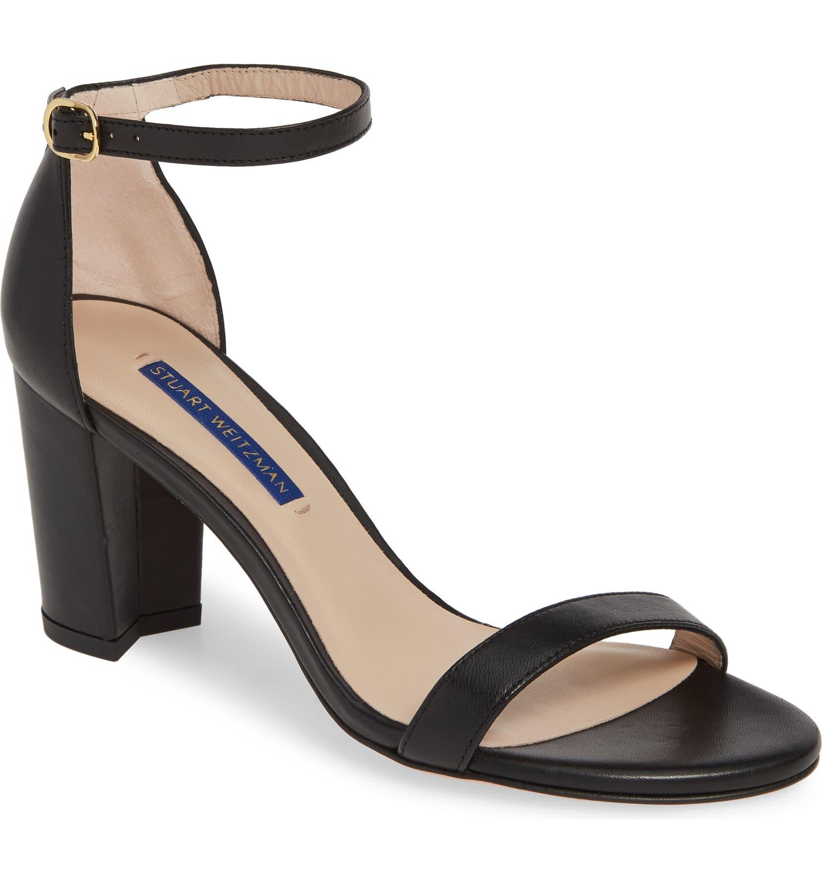 48b1e9a582 Stuart Weitzman NearlyNude Ankle Strap Sandal (Women) | Nordstrom