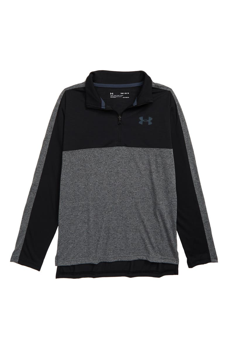 UNDER ARMOUR HeatGear<sup>®</sup> Huddle Half Zip Performance Pullover, Main, color, 001