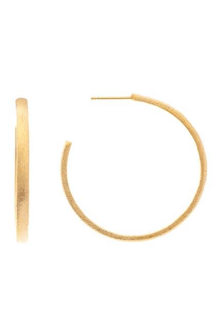 Image of Rivka Friedman 18K Gold Clad Brass Hoop Earrings