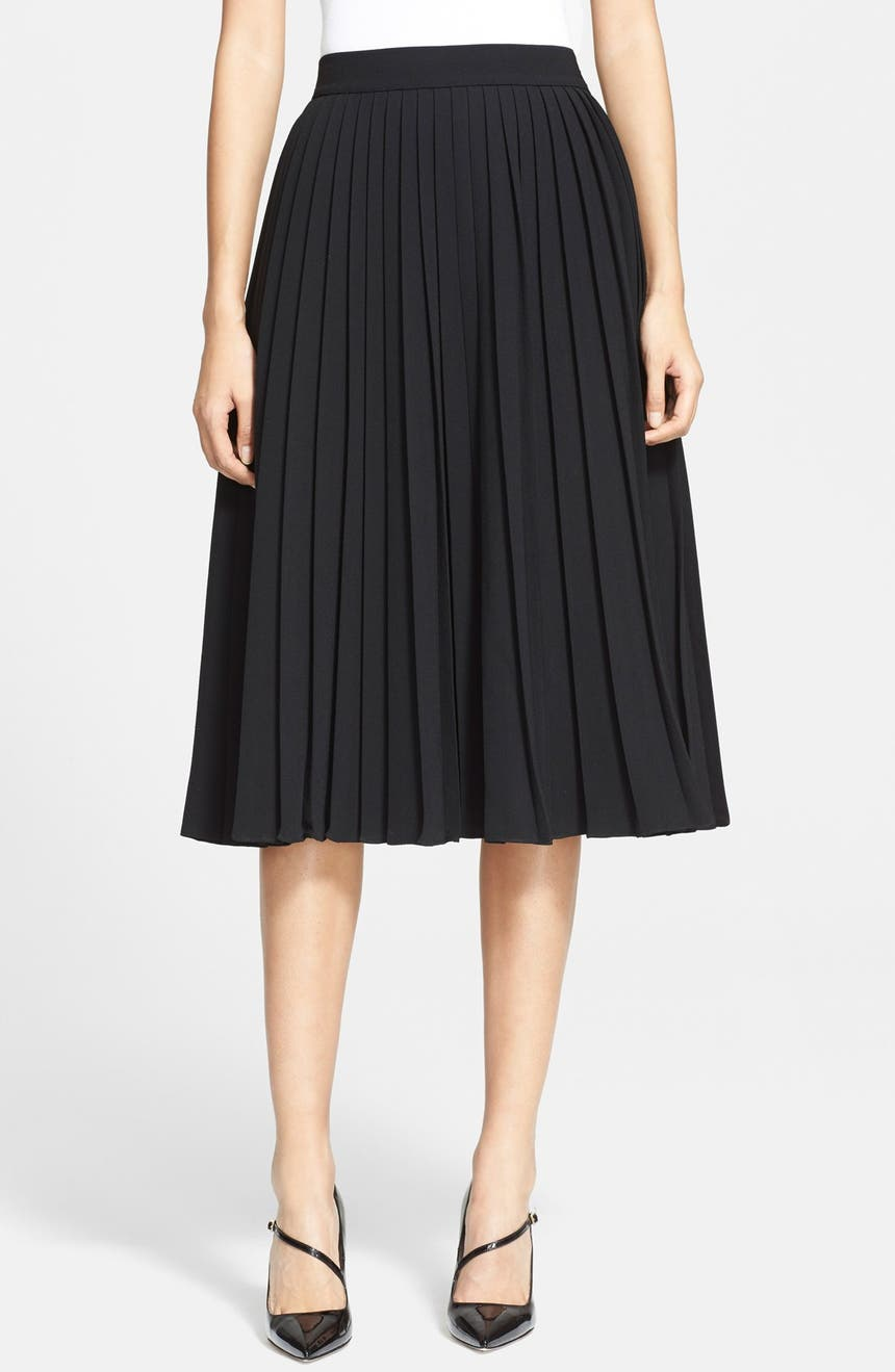9bd7840cc kate spade new york pleated crepe midi skirt | Nordstrom