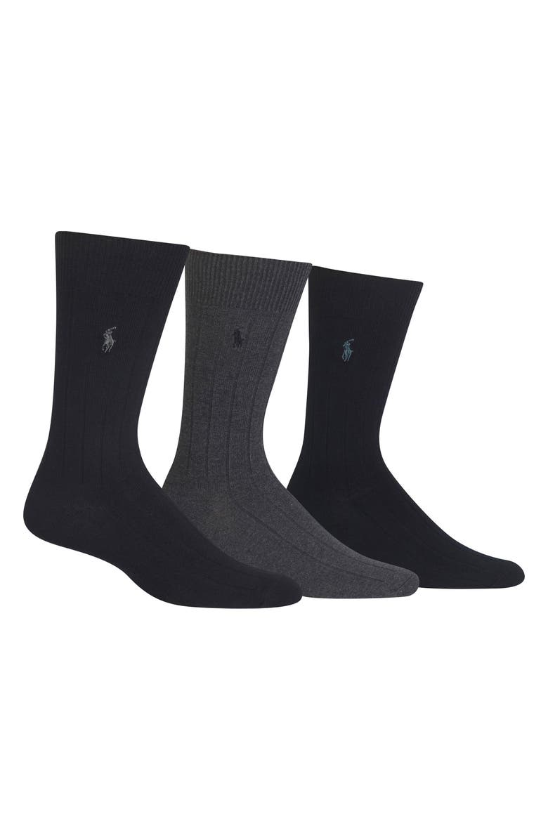 POLO RALPH LAUREN 3-Pack Crew Socks, Main, color, 019