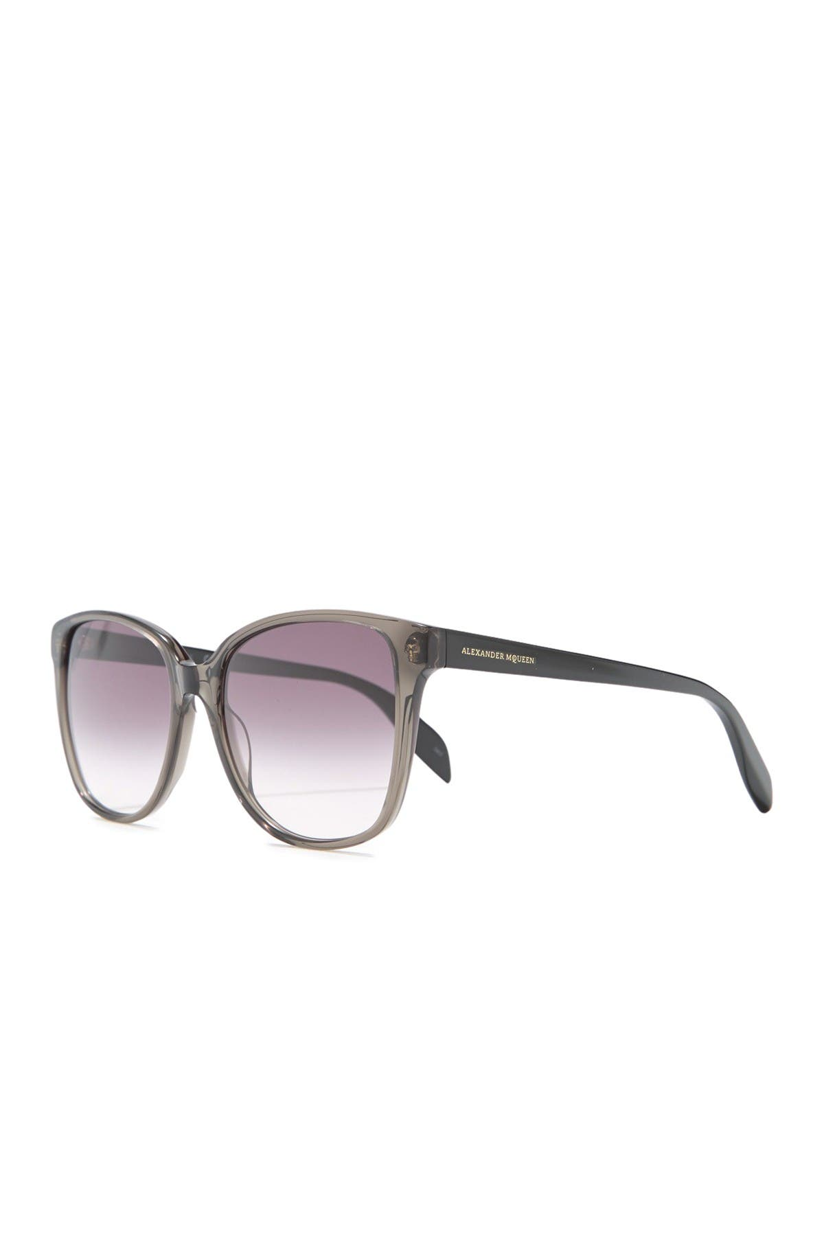 Image of Alexander McQueen 56mm Square Sunglasses