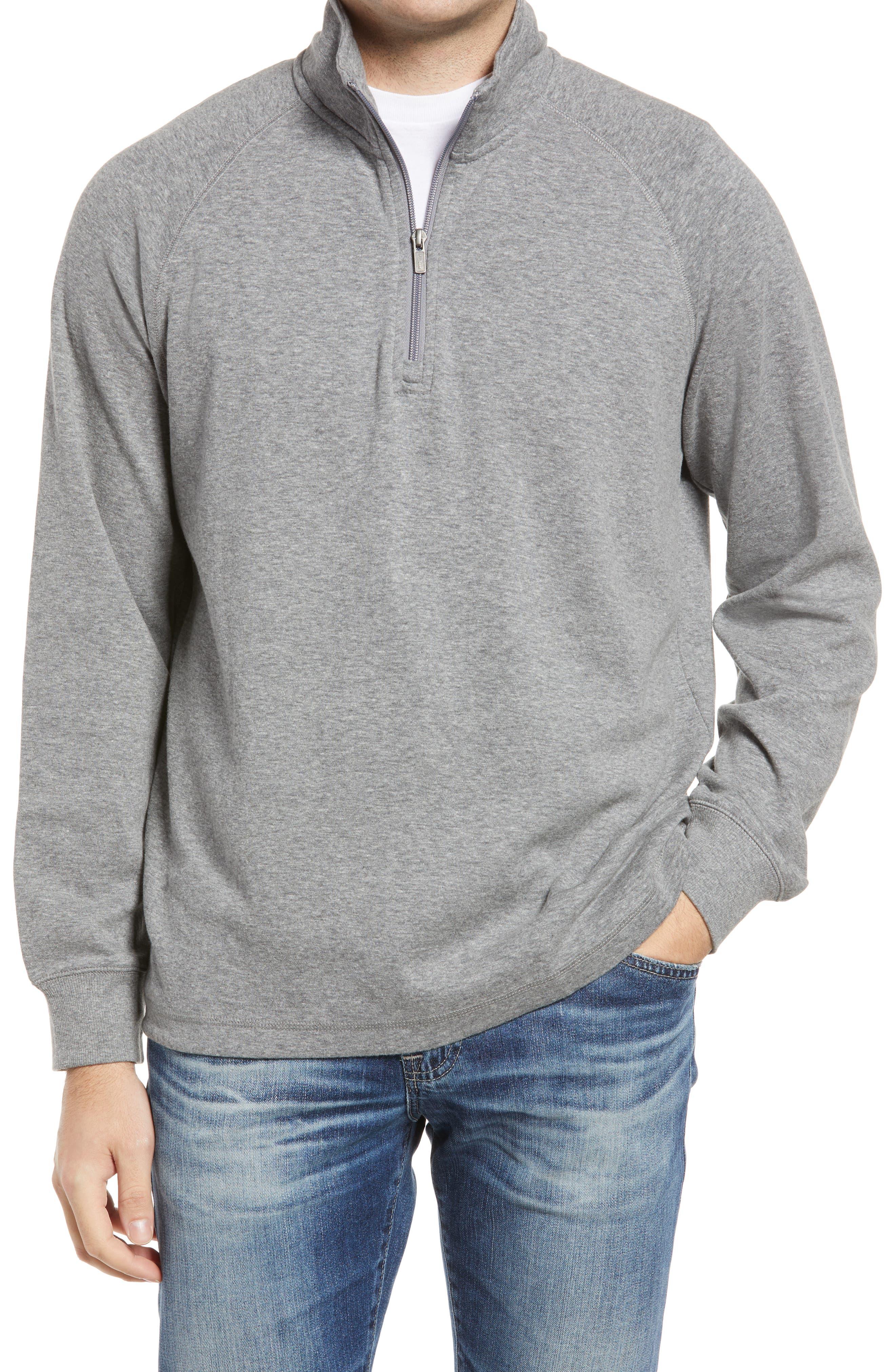 Men's Washed Cotton Quarter Zip Pullover