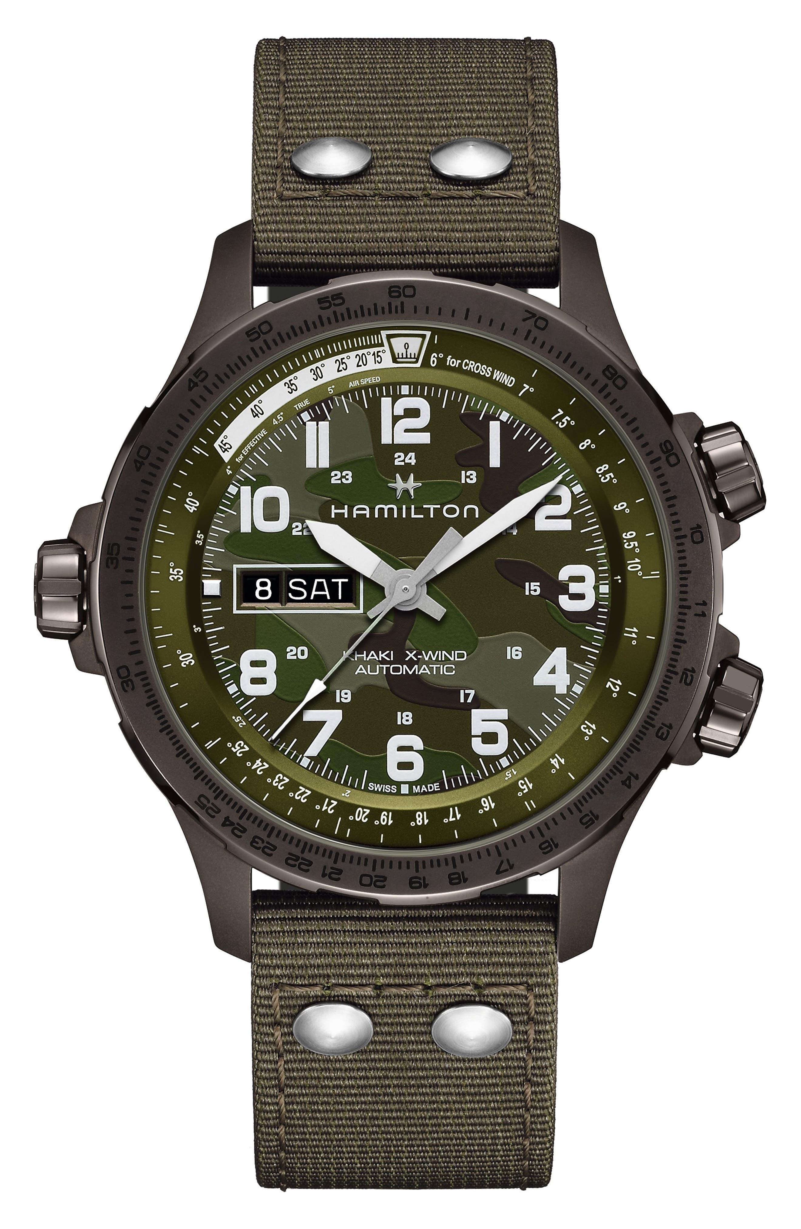 Khaki Aviation X-Wind Auto Chronograph Textile Strap Watch