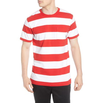 Vans Anaheim Issue Stripe Pocket T-Shirt, White